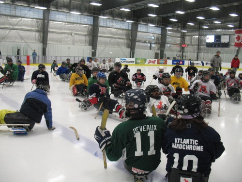 Canada's National Sledge Hockey Team held its training camp in Bedford in October. They also hosted on-ice training sessions for players and coaches.  (Hockey Nova Scotia)