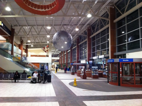 Halifax's Stanfield International Airport's newly re-designed arrival and departures area (photo by carfreedc via Flickr).