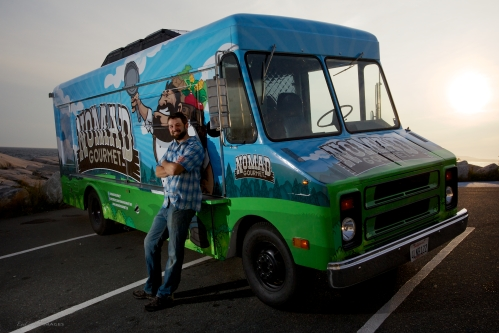 Nick Horne, outside his new gourmet food truck, Nomad Gourmet (photo courtesy of Nick Horne).