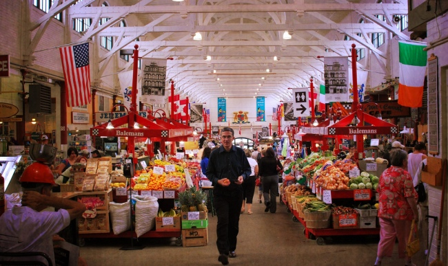 Inside the Saint John City Market (photo by ShutterbugMari via Flickr).